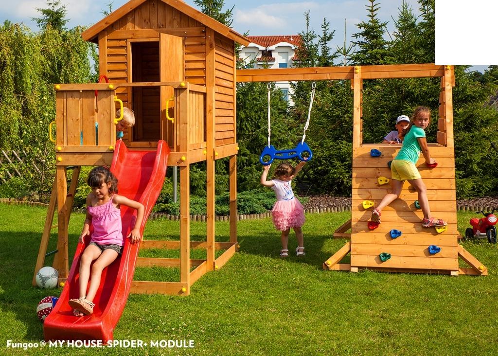 spielhaus my house spider podesth he 125 cm mit 2 20 m rutsche schaukel a s spieleland. Black Bedroom Furniture Sets. Home Design Ideas