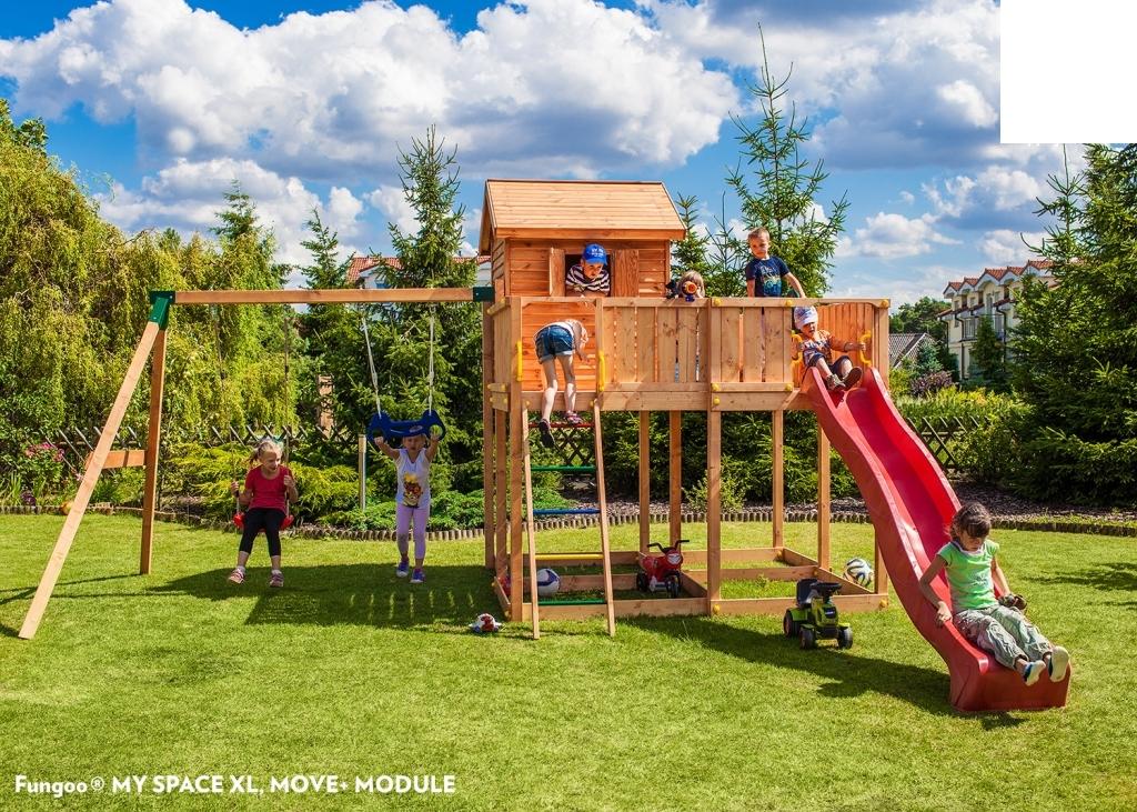 spielhaus myspace xl move podesth he 145 cm mit 2 90 m rutsche doppelschaukel ebay. Black Bedroom Furniture Sets. Home Design Ideas