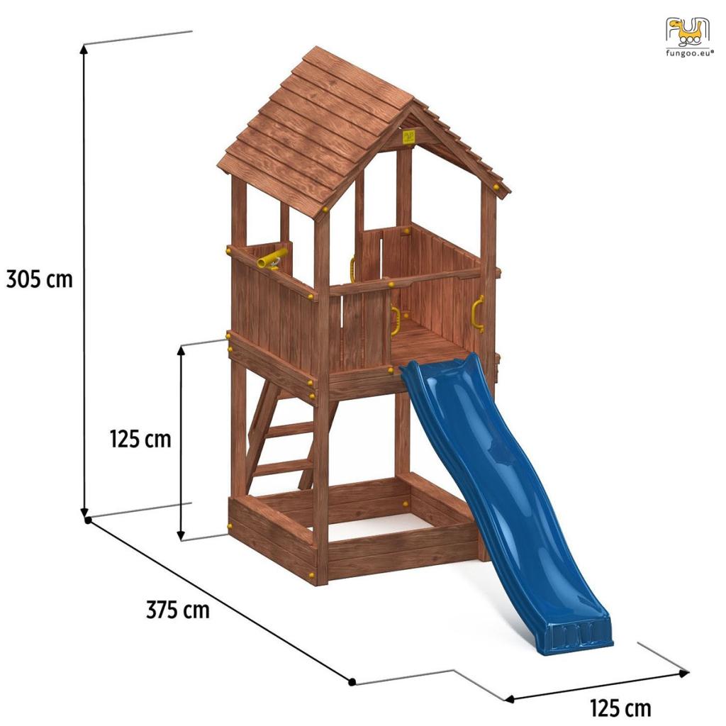 spielturm joy kletterturm 2 2 m rutsche sandkasten und zubeh r ebay. Black Bedroom Furniture Sets. Home Design Ideas