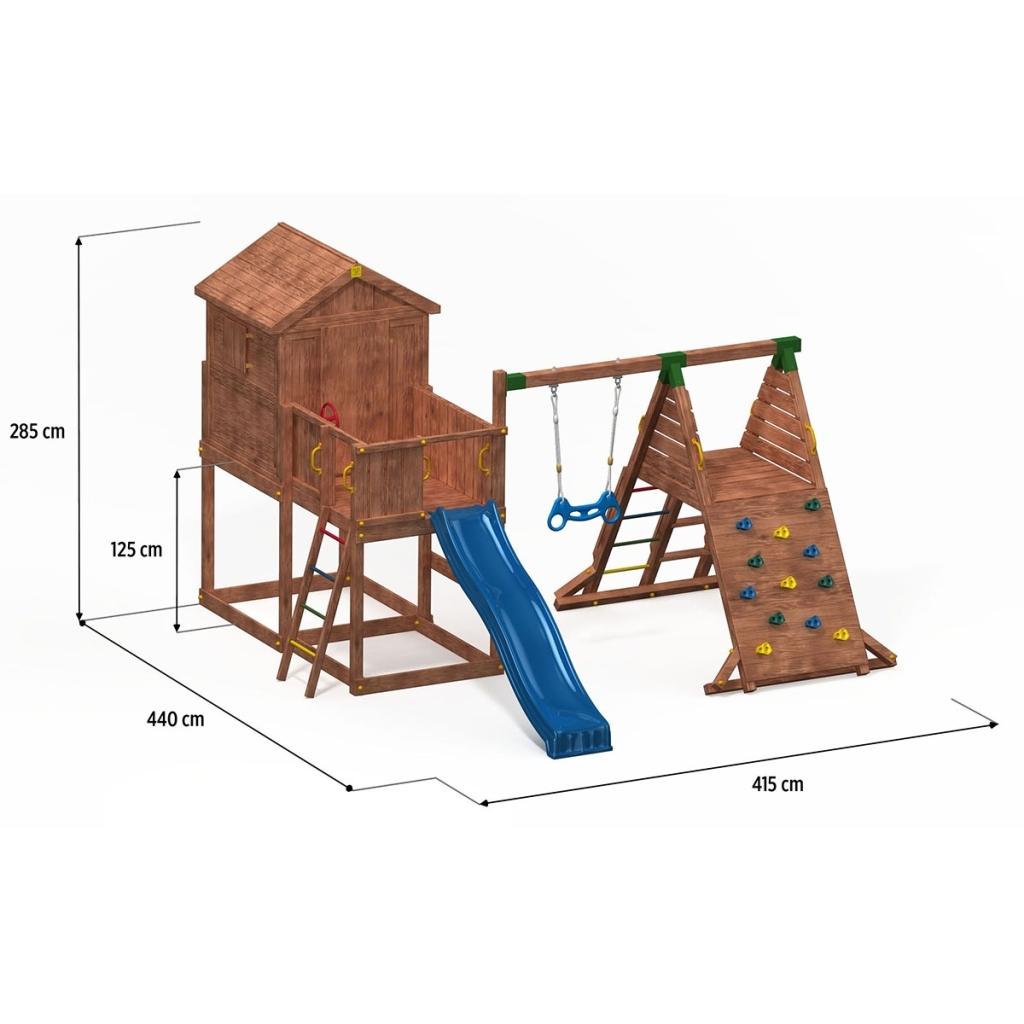 spielhaus my house spider podesth he 125 cm mit 2 20 m rutsche anbau schaukel 7426762455897 ebay. Black Bedroom Furniture Sets. Home Design Ideas