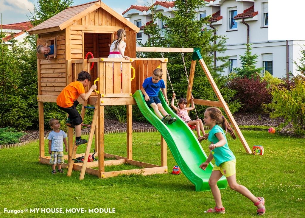 Gemeinsame Spielturm Spielhaus MY-House-Move- Podesthöhe 125cm 2,20m Rutsche @NY_09