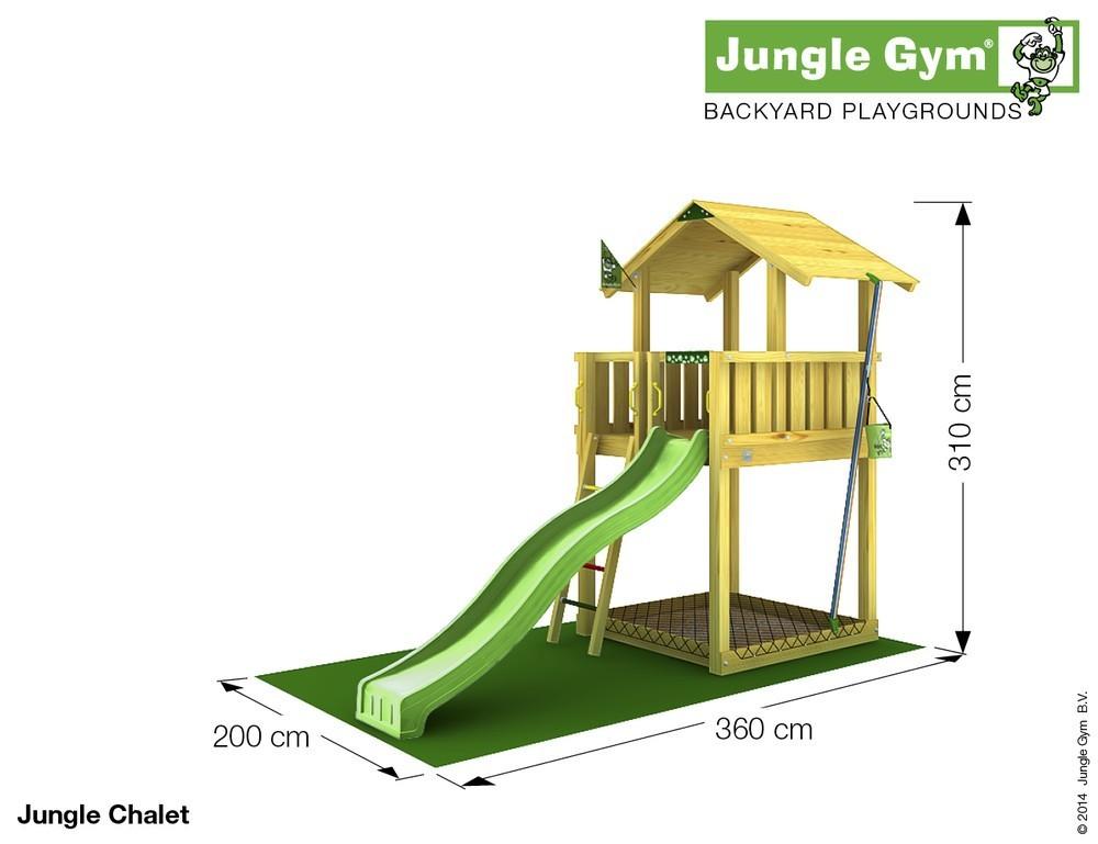 spielturm jungle chalet set mit rutsche jungle gym. Black Bedroom Furniture Sets. Home Design Ideas