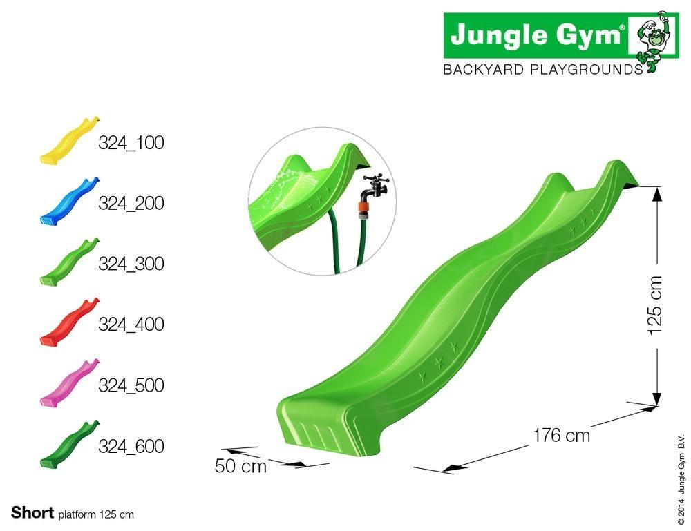 spielturm jungle gym club 2 4 m rutsche sandkasten. Black Bedroom Furniture Sets. Home Design Ideas