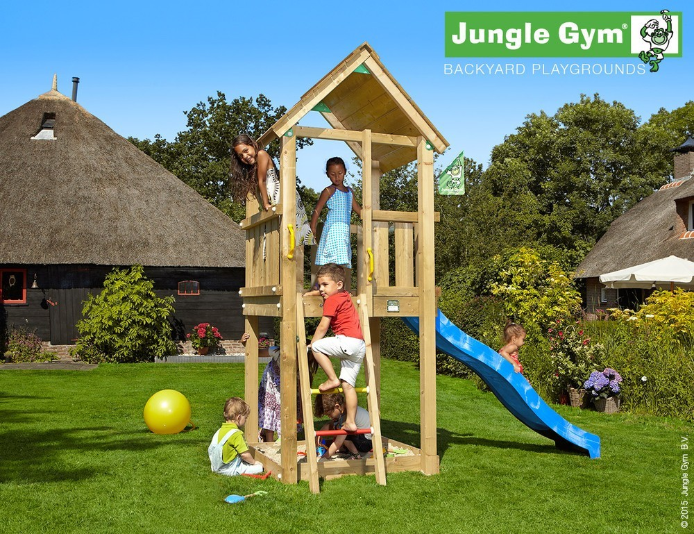 spielturm jungle club mit feuerwehrstange jungle gym. Black Bedroom Furniture Sets. Home Design Ideas