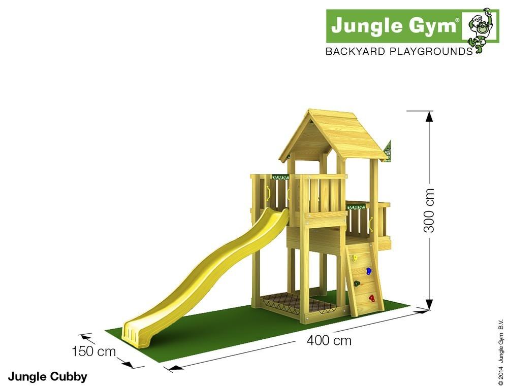 spielturm jungle cubby set mit rutsche jungle gym. Black Bedroom Furniture Sets. Home Design Ideas